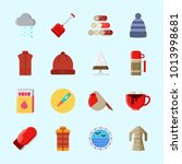 icons about winter with thermo  ...   Shutterstock .eps vector #1013998681