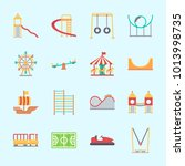 icons about amusement park with ...   Shutterstock .eps vector #1013998735