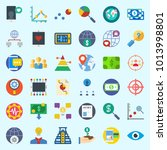icons about marketing with...   Shutterstock .eps vector #1013998801