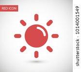 sun vector icon. ecology concept | Shutterstock .eps vector #1014001549