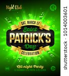 saint patrick's day  feast of... | Shutterstock .eps vector #1014003601