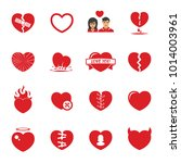 love hearts icons set | Shutterstock .eps vector #1014003961