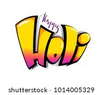 happy holi colorful... | Shutterstock .eps vector #1014005329