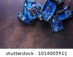 a pile of boards for... | Shutterstock . vector #1014005911