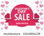 valentine's day sale  vector... | Shutterstock .eps vector #1014006139