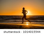silhouette of young dynamic... | Shutterstock . vector #1014015544