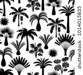 seamless pattern with tropical... | Shutterstock .eps vector #1014015835
