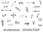 doodle hand drawn vector arrows | Shutterstock .eps vector #1014017329