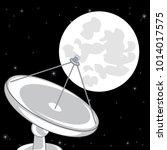 antenna satellite on background ...   Shutterstock .eps vector #1014017575