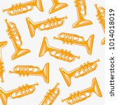 pattern from music instrument...   Shutterstock .eps vector #1014018019