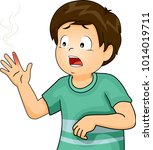 illustration of a kid boy in...   Shutterstock .eps vector #1014019711