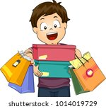 illustration of a kid boy... | Shutterstock .eps vector #1014019729