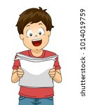 illustration of a kid boy... | Shutterstock .eps vector #1014019759