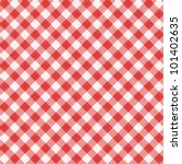Red And White Gingham Cloth...