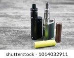 e   cigarette for vaping  ... | Shutterstock . vector #1014032911