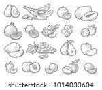 set fruits. mango  lime  banana ...   Shutterstock .eps vector #1014033604