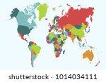 political world map | Shutterstock .eps vector #1014034111