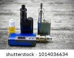 e   cigarette for vaping  ... | Shutterstock . vector #1014036634
