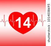 valentines day celebration card.... | Shutterstock .eps vector #1014038695