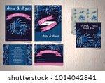 wedding invitation cards | Shutterstock .eps vector #1014042841