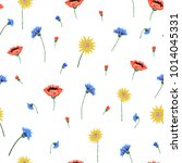 floral embroidery seamless... | Shutterstock .eps vector #1014045331