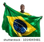 brazilian afro male athlete  ... | Shutterstock . vector #1014045481
