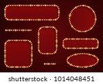 vector frame with light effect. ... | Shutterstock .eps vector #1014048451