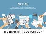 business meeting  audit  ... | Shutterstock .eps vector #1014056227