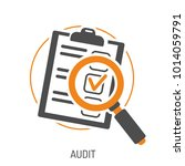 audit and test flat icon set... | Shutterstock .eps vector #1014059791