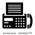 fax machine vector icon | Shutterstock .eps vector #1014062779