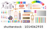art supplies vector... | Shutterstock .eps vector #1014062935