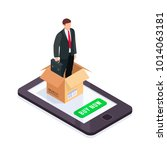 hr isometric concept. manager...   Shutterstock . vector #1014063181