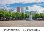 central square  het plein  with ... | Shutterstock . vector #1014063817