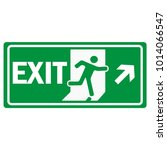 fire emergency exit sign icon... | Shutterstock .eps vector #1014066547