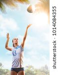 professional female volleyball... | Shutterstock . vector #1014084355