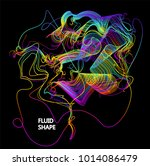 moving colorful lines of... | Shutterstock .eps vector #1014086479