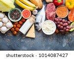 healthy nutrition concept.... | Shutterstock . vector #1014087427