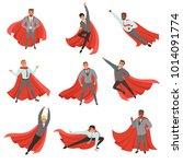 superhero business men in... | Shutterstock .eps vector #1014091774