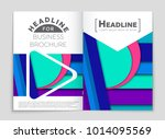 abstract vector layout... | Shutterstock .eps vector #1014095569