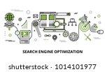 modern flat thin line design... | Shutterstock .eps vector #1014101977