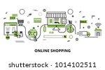 modern flat thin line design... | Shutterstock .eps vector #1014102511