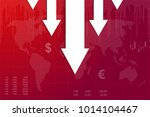 crisis of economy with white... | Shutterstock .eps vector #1014104467