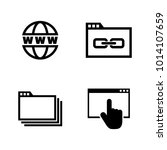 web browsing. simple related... | Shutterstock .eps vector #1014107659