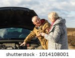 senior couple on the road... | Shutterstock . vector #1014108001
