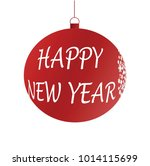 happy new year decoration ball  ... | Shutterstock .eps vector #1014115699