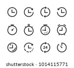 vector time and clock icons... | Shutterstock .eps vector #1014115771