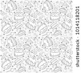 hand drawn candy seamless... | Shutterstock .eps vector #1014118201