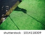 shadow of the lady on the swing ... | Shutterstock . vector #1014118309