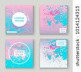 pastel pink cyan explosion... | Shutterstock .eps vector #1014124315