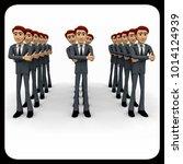 3d man standing in queue... | Shutterstock . vector #1014124939